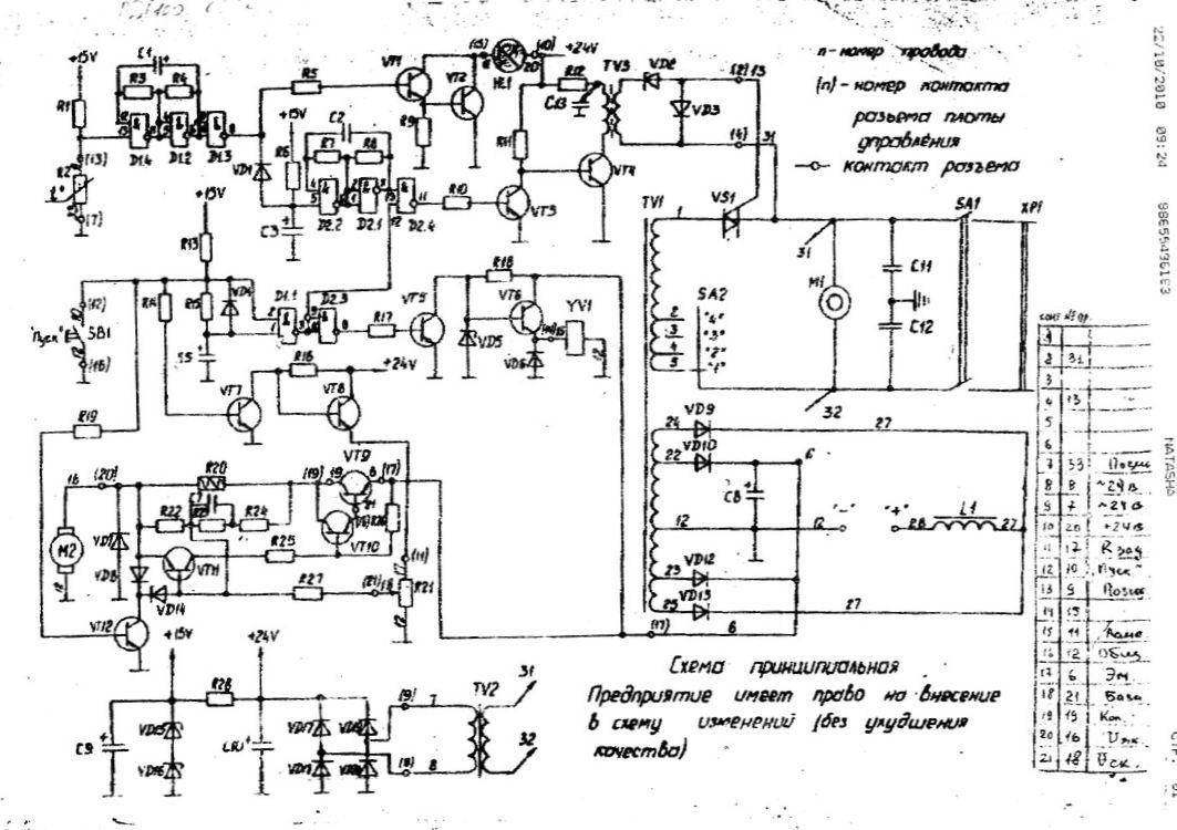 Схема сварочного полуавтомата kaiser
